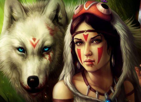 girl_spear_warrior_wolf_69207_3840x2400